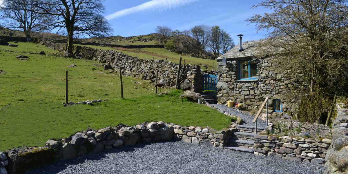 Parking area with easy access to the Bothy